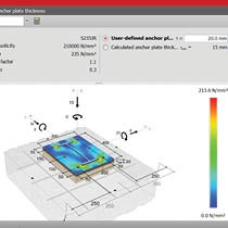 Wurth Anchor Design Software - Anchor plate thickness calculator with stress mapping