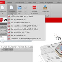 Wurth Anchor Design Software - Built-in technical document and approval library