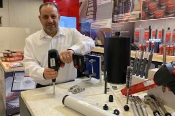CEO Serge Oppedisano in action, showcasing Wurth products