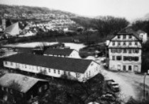 Wurth - Original place of foundation: Schlossmühle and adjacent buildings in Künzelsau, Southern Germany in 1945